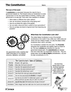 The Constitution Student Activities